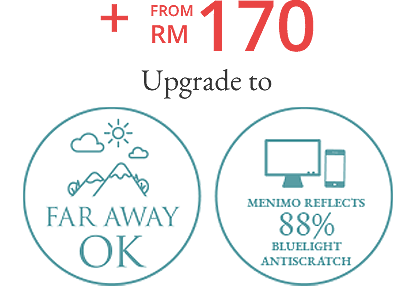 + FROM RM 185 Upgrade to Progressive Lenses (1.55) HOYA